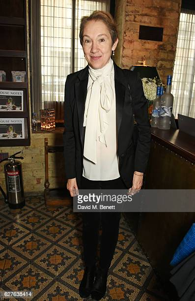 Justine Picardie attends The Fashion Awards in partnership with Swarovski nominees' lunch hosted by the British Fashion Council with Grey Goose at...
