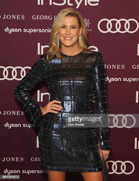 Justine Schofield arrives ahead of the Women of Style Awards at The Star on May 17 2017 in Sydney Australia