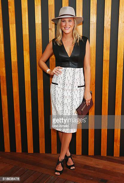 Justine Schofield poses inside the Little Sydney enclosure during The Championships Day 1 at Royal Randwick Racecourse on April 2 2016 in Sydney...