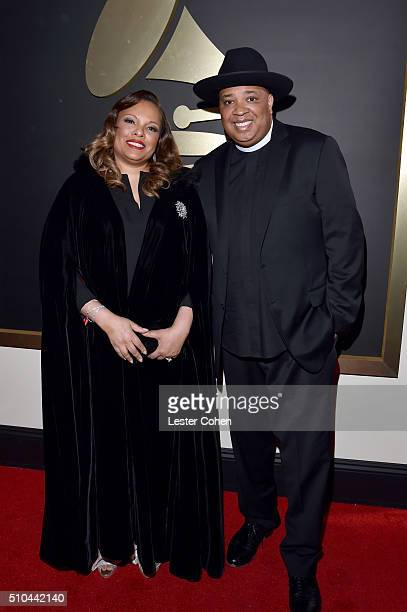 Justine Simmons and recording artist Joseph Simmons aka Rev Run attend The 58th GRAMMY Awards at Staples Center on February 15 2016 in Los Angeles...