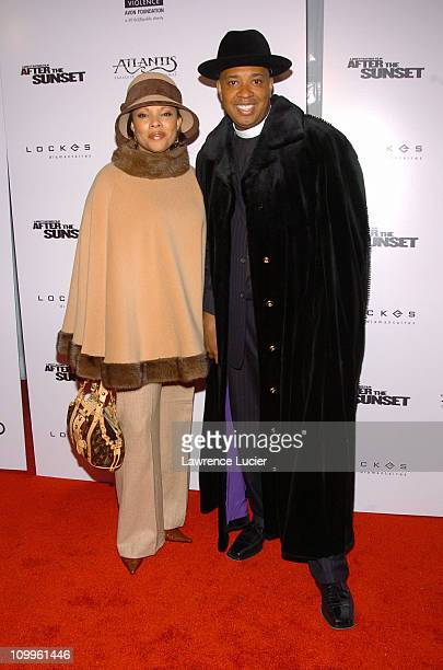 Justine Simmons and Rev Run Simmons during After The Sunset New York Screening at Ziegfeld Theater in New York City New York United States