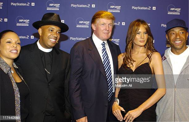 Justine Simmons Reverend Run Donald Trump Melania Knauss and Russell Simmons