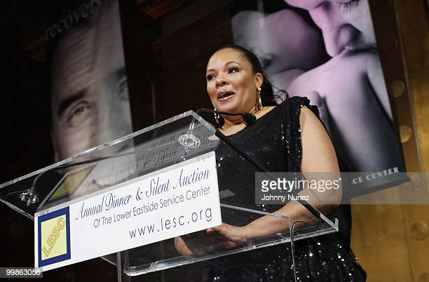 Justine Simmons speaks at the Lower Eastside Service Center's 51st Year of Continued Service celebration at Capitale on May 17 2010 in New York City