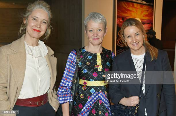 Justine Simons Maria Balshaw and Anya Hindmarch attend the reopening of The Hayward Gallery featuring the first major UK retrospective of the work of...
