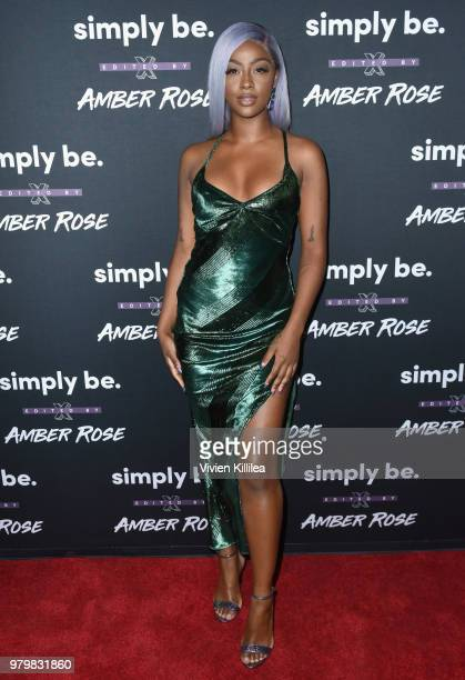 Justine Skye attends Amber Rose x Simply Be Launch Party at Bootsy Bellows on June 20 2018 in West Hollywood California
