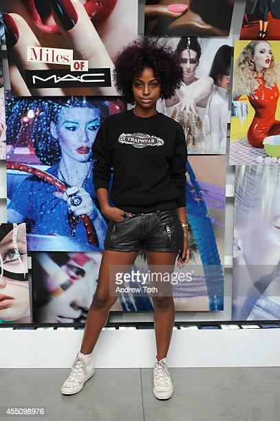 Justine Skye attends MAC Cosmetics and Miles Aldridge celebrate NYC Rizzoli book launch Miles Of MAC at Steven Kasher Gallery on September 9 2014 in...