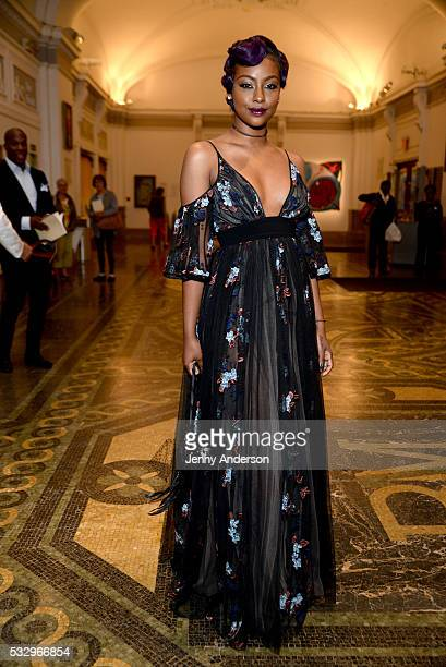Justine Skye attends MoCADA 2nd Annual Masquerade Ball at Brooklyn Academy Of Music on May 19 2016 in Brooklyn New York