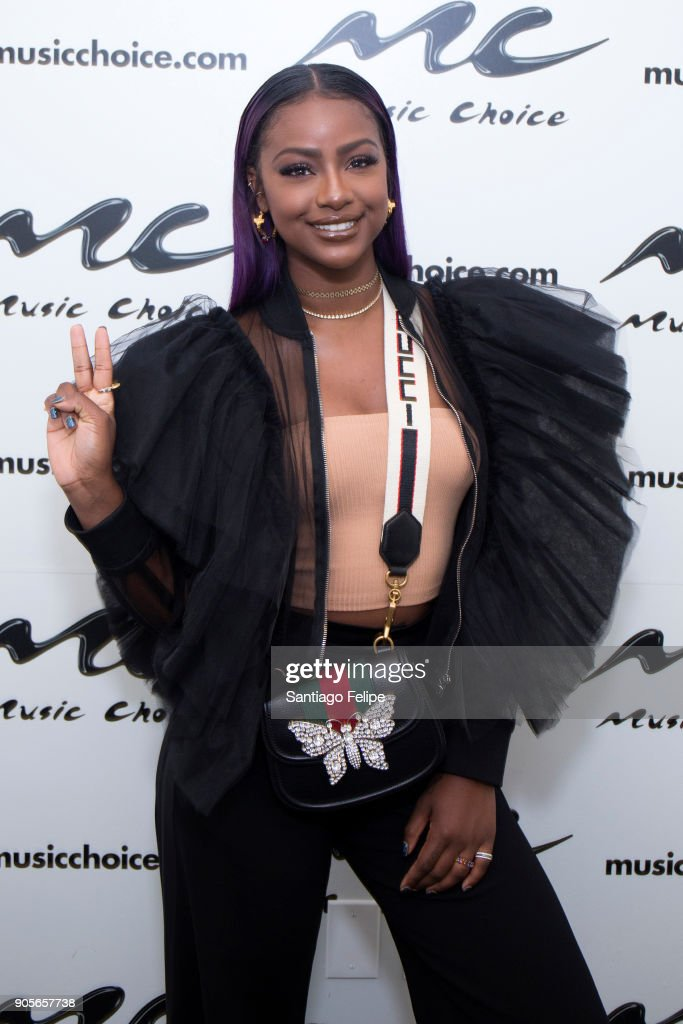 Justine Skye Visits Music Choice