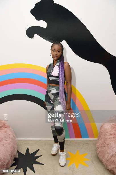 Justine Skye attends Puma's Do You Studio on July 28 2018 in Los Angeles California