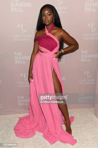 EPTEMBER 13 Justine Skye attends Rihanna's 4th Annual Diamond Ball benefitting The Clara Lionel Foundation at Cipriani Wall Street on September 13...