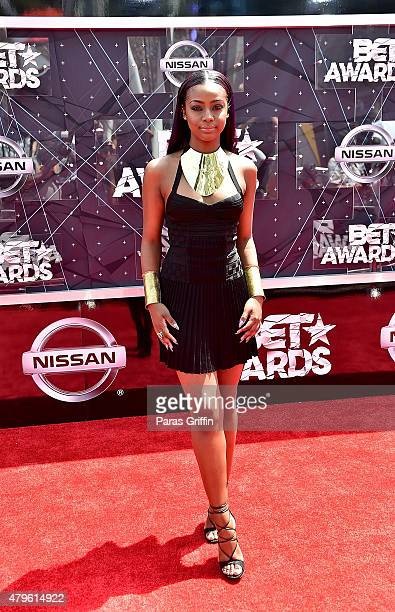 Justine Skye attends the 2015 BET Awards at the Microsoft Theater on June 28 2015 in Los Angeles California