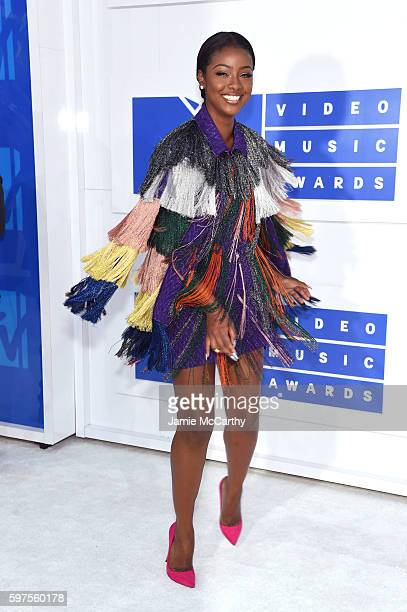 Justine Skye attends the 2016 MTV Video Music Awards at Madison Square Garden on August 28 2016 in New York City
