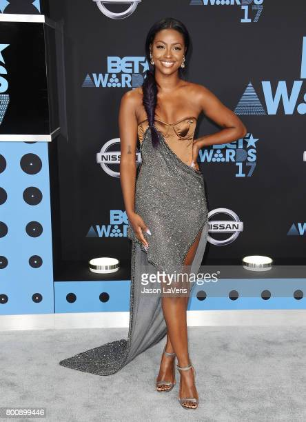 Justine Skye attends the 2017 BET Awards at Microsoft Theater on June 25 2017 in Los Angeles California