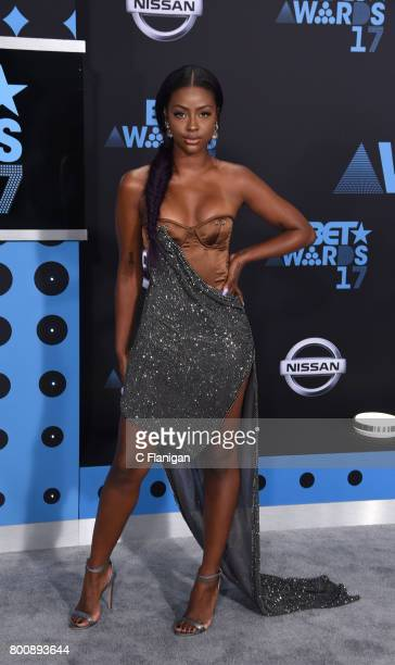 Justine Skye attends the 2017 BET Awards at Staples Center on June 25 2017 in Los Angeles California