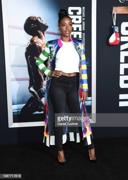 Justine Skye attends the 'Creed II' New York Premiere at AMC Loews Lincoln Square on November 14 2018 in New York City