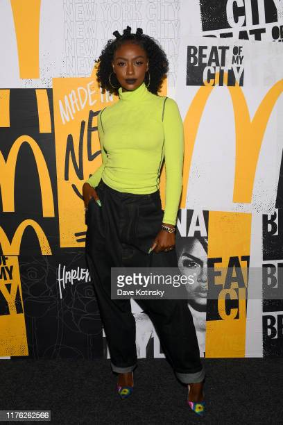 Justine Skye attends the kick off of McDonald's Beat Of My City at Pier 36 on September 21 2019 in New York City