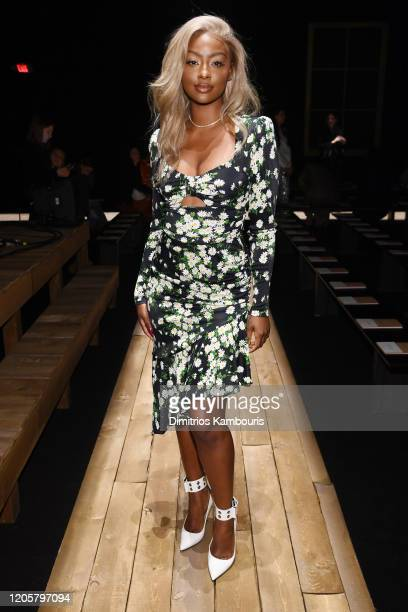 Justine Skye attends the Michael Kors FW20 Runway Show on February 12 2020 in New York City