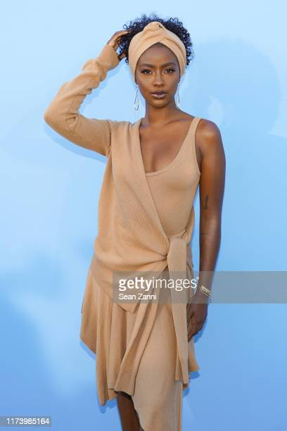 Justine Skye attends the Michael Kors S/S 2020 Fashion Show at Duggal Greenhouse on September 11 2019 in Brooklyn New York