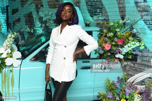 Justine Skye attends the Tiffany Co Paper Flowers event and Believe In Dreams campaign launch on May 3 2018 in New York City
