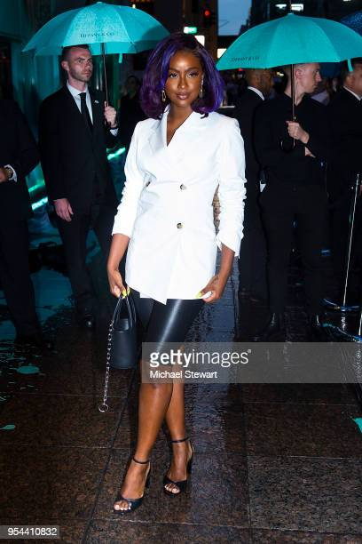 Justine Skye attends the Tiffany Paper Flowers Collection Launch at Tiffany Co on May 3 2018 in New York City
