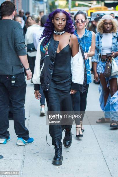 Justine Skye attends the Zadig Voltaire fashion show during New York Fashoin Week at Cedar Lake in Chelsea on September 11 2017 in New York City