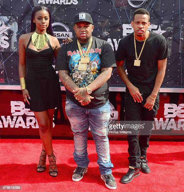Justine Skye DJ Mustard and RJ OMIO attend the 2015 BET Awards on June 28 2015 in Los Angeles California