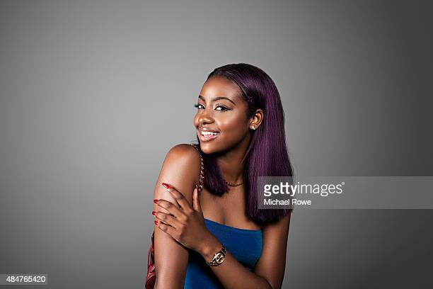 Justine Skye is photographed at the 2015 Essence Festival for Essence Magazine on July 3 2015 in New Orleans Louisiana