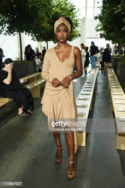 Justine Skye poses backstage during the Michael Kors Collection Spring 2020 Runway Show on September 11 2019 in Brooklyn City