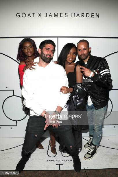 Justine Skye Ryan Silverstein Normani Kordei and Harold Hadnott attend GOAT and James Harden Celebrate NBA AllStar Weekend 2018 at Poppy on February...