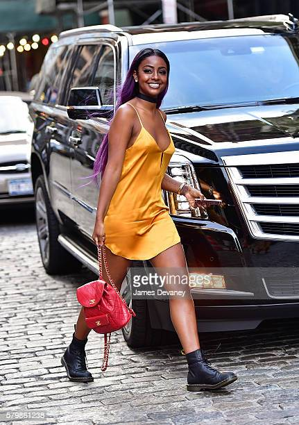 Justine Skye seen on the streets of Manhattan on July 24 2016 in New York City