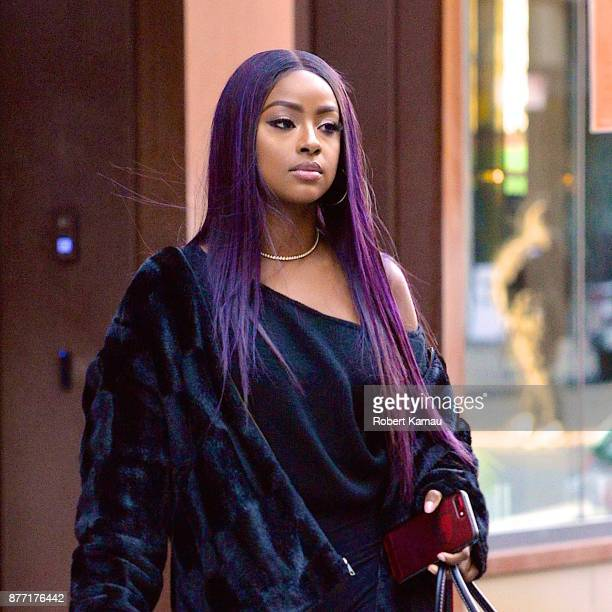 Justine Skye seen out and about in Manhattan on November 20 2017 in New York City