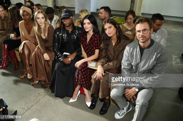Justine Skye Suki Waterhouse Law Roach Lucy Hale Sara Sampaio and Brad Goreski attend the Michael Kors Collection Spring 2020 Runway Show on...
