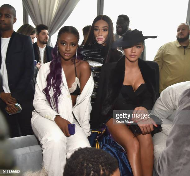 Justine Skye Winnie Harlow and Cassie attend Roc Nation THE BRUNCH at One World Observatory on January 27 2018 in New York City