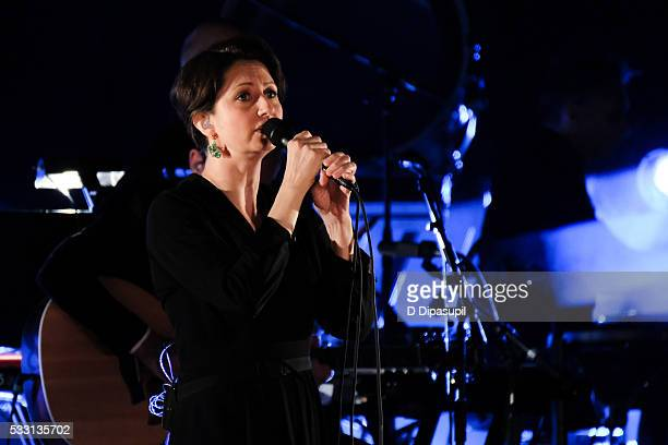 Justine Suissa performs with Above Beyond at The Beacon Theatre on May 20 2016 in New York City