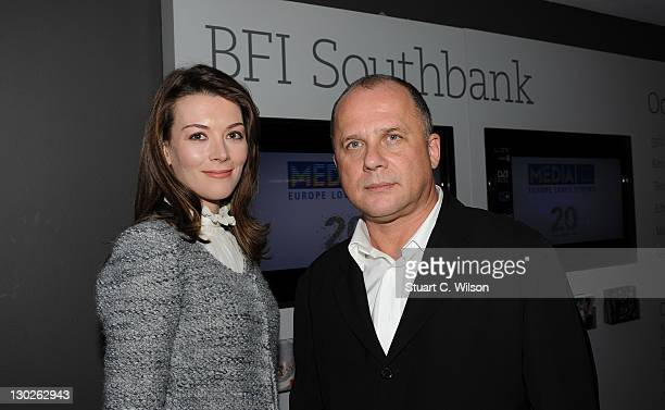 Justine Waddell and Alexander Zeldovich attend the After Party for We Have A Pope at the 55th BFI London Film Festival at BFI Southbank on October 25...