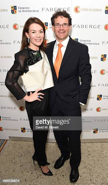 Justine Waddell and Sean Gilbertson CEO of Fabergattend as Kino Klassika Celebrates the 90th Anniversary of Eisenstein's Iconic Battleship Potemkin...