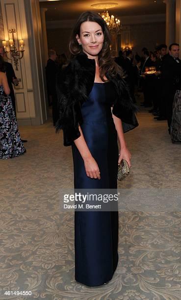 Justine Waddell attends a gala evening celebrating Old Russian New Year's Eve in aid of the Gift Of Life Foundation at The Savoy Hotel on January 13...