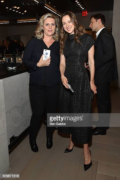 Justine Wheeler Koons and Maria Baibakova attend the Jeff Koons x Google launch on May 09 2016 in New York New York
