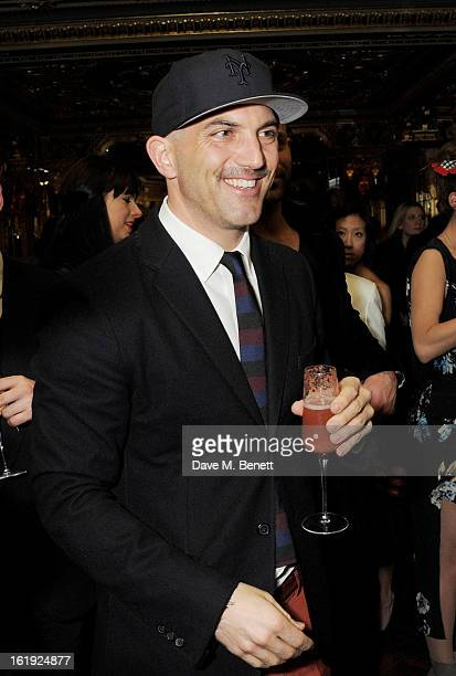 Justinian Kfoury attends a private dinner hosted by L'Wren Scott & Mick Jagger celebrating her 2013 fall/winter collection at the Cafe Royal hotel on...