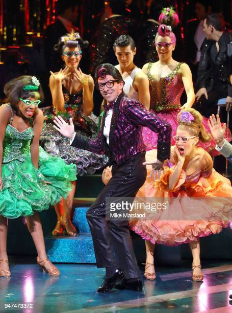 JustinLee Jones during a photocall for 'Strictly Ballroom The Musical' at Piccadilly Theatre on April 17 2018 in London England