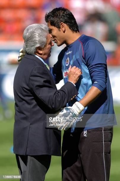 Justino Compean and Oswaldo Sanchez of Chivas during the final match of the Apertura Tournament 2006 on December 10 , 2006 on Nemesio Diez Stadium in...