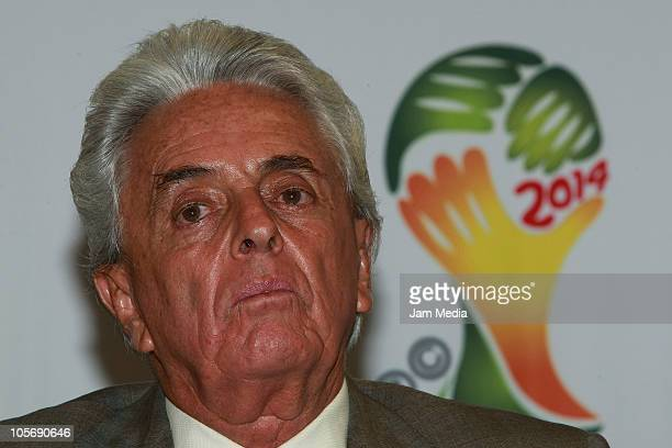 Justino Compean, president of FEMEXFUT during his presentation for the tecnichal direction of Mexican national team on October 18, 2010 in Mexico...