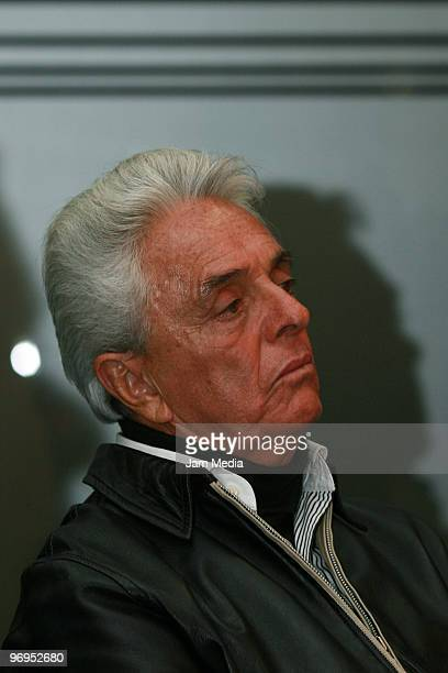 Justino Compean President of FEMEXFUT during press conference at the Mexican Football Federation's High Performance Center on February 21 2010 in...