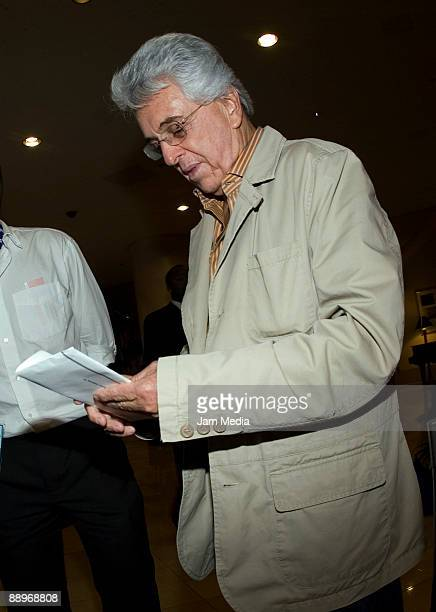 Justino Compean, president of the Mexican Federation of Football, arrives at the Marriot Hotel on July 05, 2009 in Oakland, California.