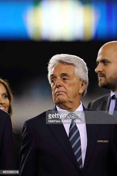 Justino Compean the President of the Mexico Football Federation during the 2015 CONCACAF Gold Cup Final match between Jamaica and Mexico at Lincoln...