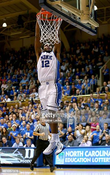 Justise Winslow of the Duke Blue Devils during their game at Cameron Indoor Stadium on December 15 2014 in Durham North Carolina
