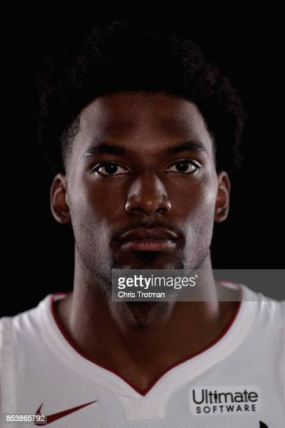 Justise Winslow of the Miami Heat poses during media day at American Airlines Arena on September 25 2017 in Miami Florida NOTE TO USER User expressly...