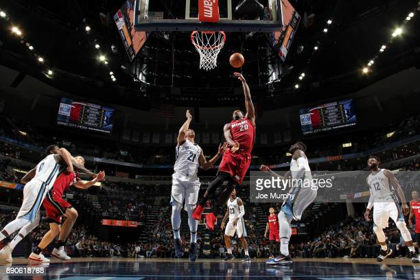 Justise Winslow of the Miami Heat shoots the ball against the Memphis Grizzlies on December 11 2017 at FedExForum in Memphis Tennessee NOTE TO USER...