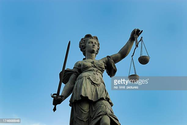 justitia - equal arm balance stock pictures, royalty-free photos & images