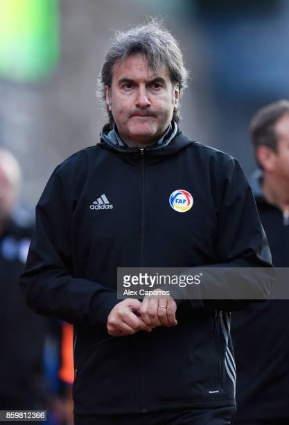 Justo Ruiz coach of Andorra during the UEFA European Under 21 Championship Qualifier between Andorra U21 and England U21 on October 10 2017 in...